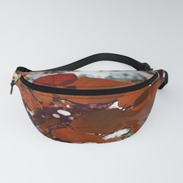 Branches in burgundy and bronze - Seamless fall leaf pattern Fanny Pack