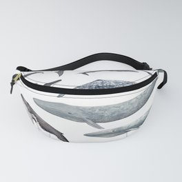 Whales all around Fanny Pack