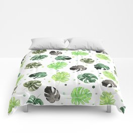 Monstera Bubble Comforters