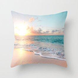 Pink Sea Throw Pillow