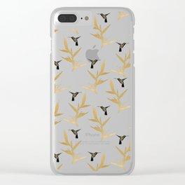 Hummingbird & Flower II Clear iPhone Case
