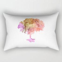 Watercolor tree painting Rectangular Pillow