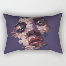 Deep blue eyes Rectangular Pillow