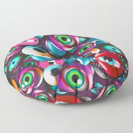 Monster Eyes Party Floor Pillow