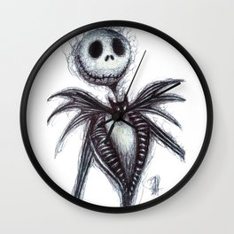 Jack Skellington scribble Wall Clock