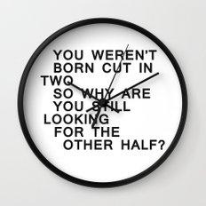In Half / Original / Mono Wall Clock