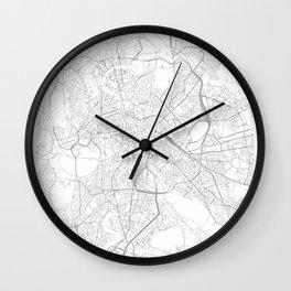 Rome, Italy Minimalist Map Wall Clock