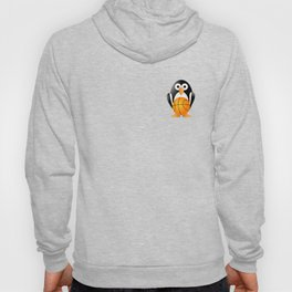 Funny penguin with a basketball ball Hoody