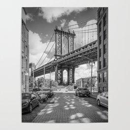 NEW YORK CITY Manhattan Bridge   Panorama Poster