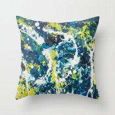 Color Commentary #21: O Negative (Cadaver Blue & Putrid Yellow) [Byron Rempel] Throw Pillow