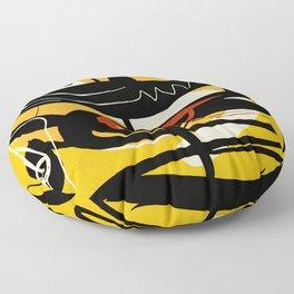 Street Art Yellow African Graffiti Floor Pillow