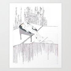 On the edge Art Print