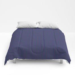 Purple plum and green fine stripes moody design Comforters
