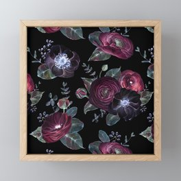 Fantasy Night Rose Red Framed Mini Art Print