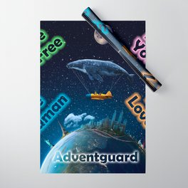 Advent Guard Earth Tranquil Whale Aspect Wrapping Paper