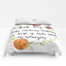 Un Beso y Mi Corazon Comforters
