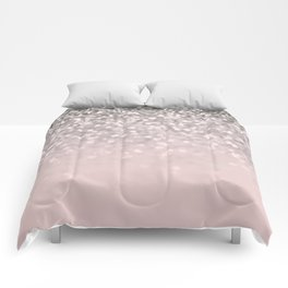 Sparkling Silver Blush Glitter #1 #shiny #decor #art #society6 Comforters