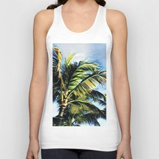 Palm Trees in the Wind (Hawaii Sky) Unisex Tank Top