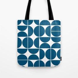 Mid Century Modern Geometric 04 Blue Tote Bag