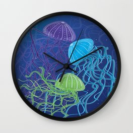 Ethereal Jellies Wall Clock
