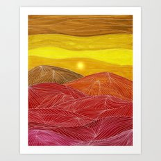 Lines in the mountains IX Art Print