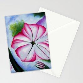Petunia Flower Still Life, No. 2 Portrait by Georgia O'Keeffe Stationery Cards