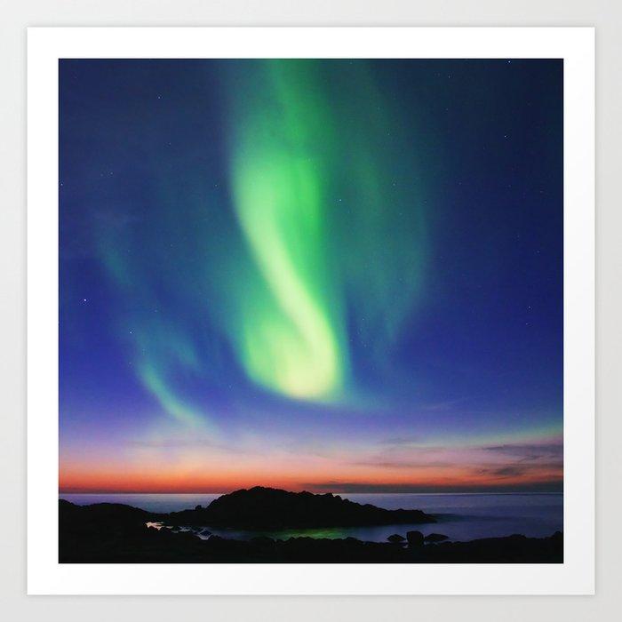 The Northern Lights 01 Art Print