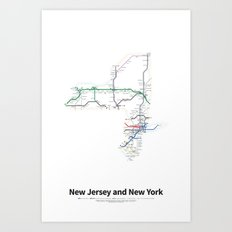 Highways of the USA – New Jersey and New York Art Print