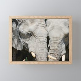 Elephant Whispers Framed Mini Art Print