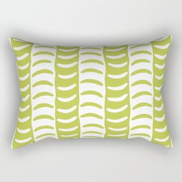 Wavy Stripes Chartreuse Rectangular Pillow