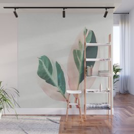 Pink Leaves I Wall Mural