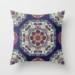 Colorful Mandala Pattern 007 Throw Pillow
