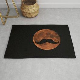 Mustache Moon Rug