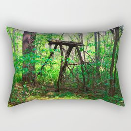 Monster in the Woods Rectangular Pillow