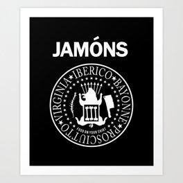 Jamons Art Print