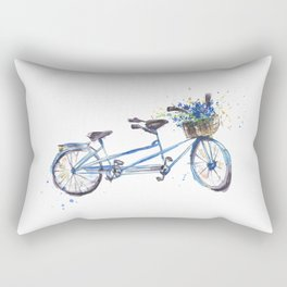 Tandem bicycle Rectangular Pillow