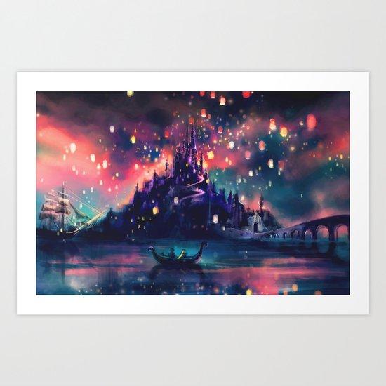 The Lights Art Print