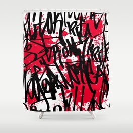 Graffiti Shower Curtain