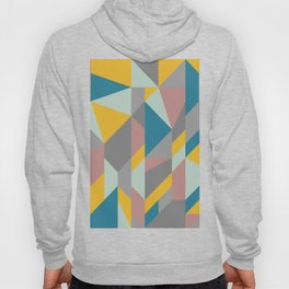 Modern Geometric Abstraction in Soft Earthy Colors Hoody