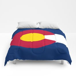Colorado state flag (High Def file) Comforters