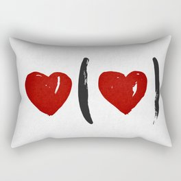 I Carry Your Heart with Me (I Carry It in My Heart) Rectangular Pillow