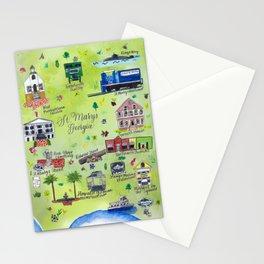 Vibrant St. Marys Map Stationery Cards