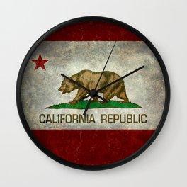 California flag - Retro Style Wall Clock