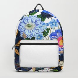 Vintage & Shabby Chic - Blue Flower Summer Meadow Backpack