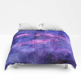 Galaxy Pattern Watercolor Comforters