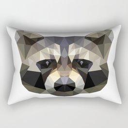 Low poly trash panda Rectangular Pillow