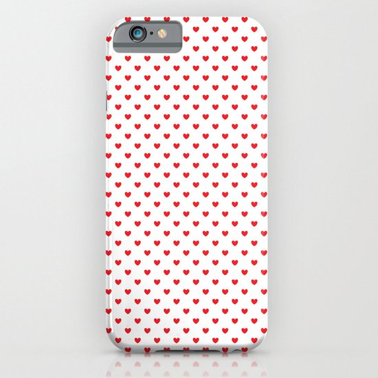 Red hearts iPhone & iPod Case