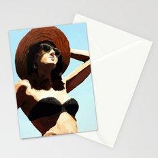Beach girl Stationery Cards