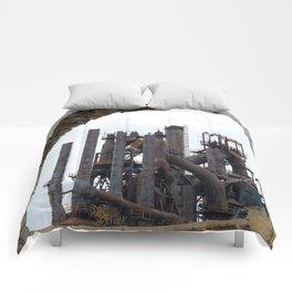 Bethlehem Steel Blast Furnace 6 Comforters