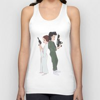 ripley Tank Tops featuring Leia and Ripley by Ashley Anderson